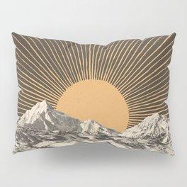Mountainscape 6 - Night Sun Pillow Sham