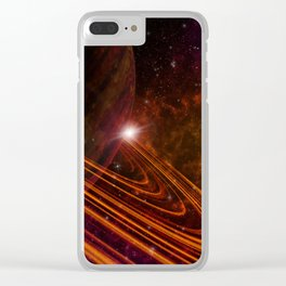 Space Scene in Autumn Clear iPhone Case