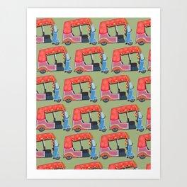 Rickshaw Fever Art Print