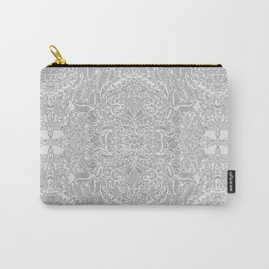 Frost & Ash - an Art Nouveau Inspired Pattern Carry-All Pouch
