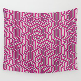 Bubblegum Maze Wall Tapestry