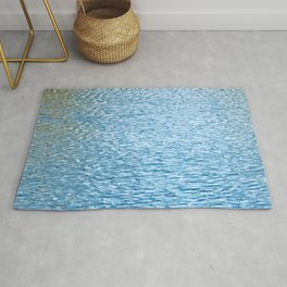 Lake Reflections With Splashes of Shaded Sunlight Abstract Rug