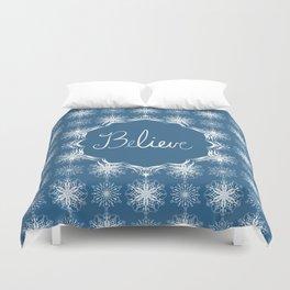 Winter Snow Believe Duvet Cover