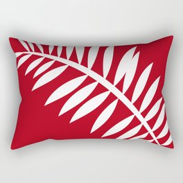 PALM LEAF RED AND WHITE PATTERN Rectangular Pillow