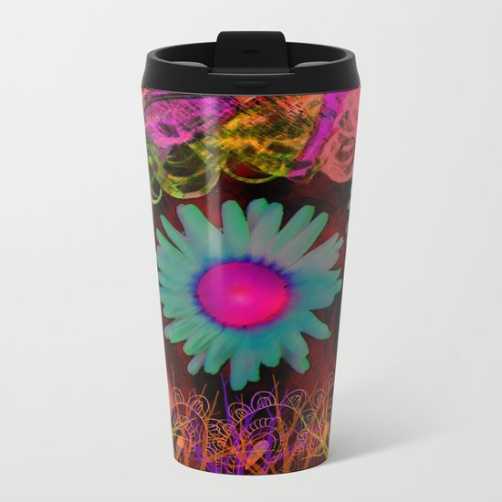 Tripping Daisies Metal Travel Mug
