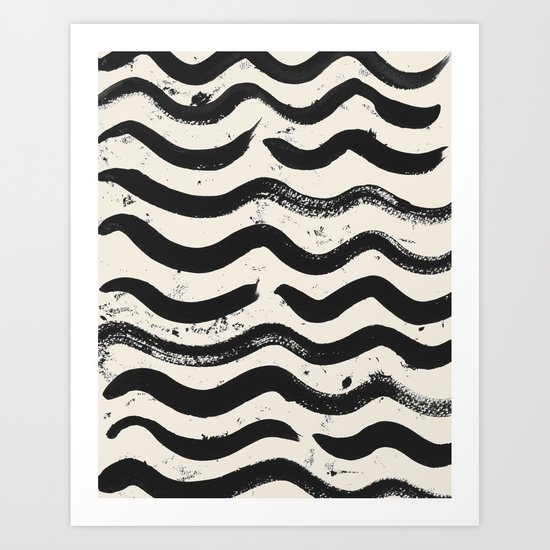 ONE / Cream Art Print