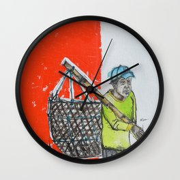 Seaweed Farmer - Island of Bali - Carrying the days Catch Wall Clock