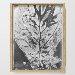 Fiddle Leaf Fig Bouquet ( Leaf Monotype Print Series) Serving Tray