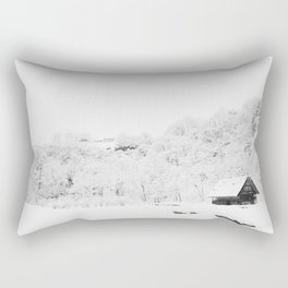 Winter Forest (Black and White) Rectangular Pillow