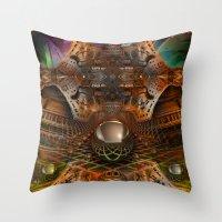 oz Throw Pillows featuring Oz by Robin Curtiss