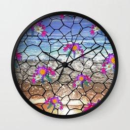 Beach Mosaic Wall Clock