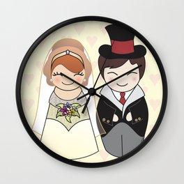 Kokeshis Just married Wall Clock