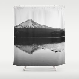 Wild Mountain Sunrise - Black and White Nature Photography Shower Curtain