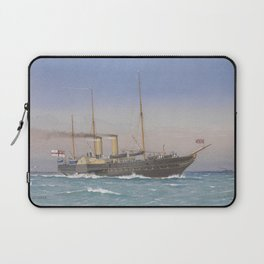 Vintage British Royal Yacht Illustration (1870) Laptop Sleeve