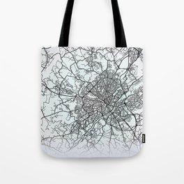 Limoges, France, White, City, Map Tote Bag