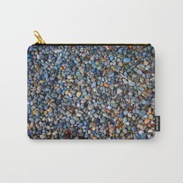 Blue Pebble Texture Carry-All Pouch