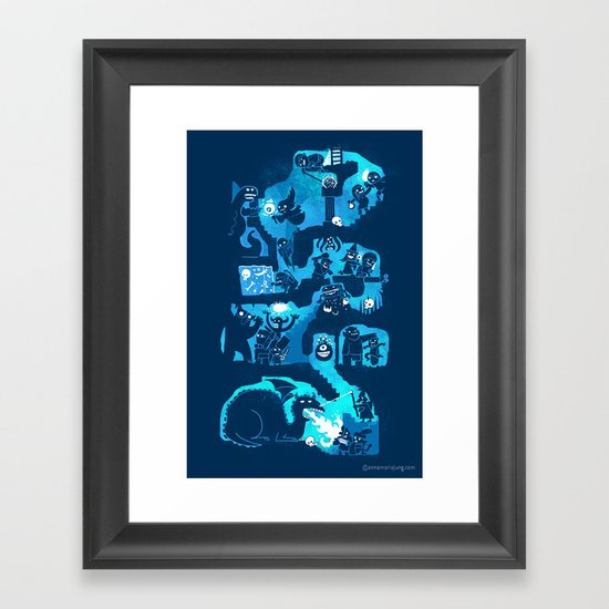 Dungeon Crawlers Framed Art Print