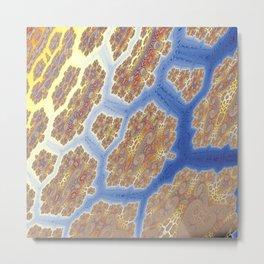 Fractal Lava Flows Metal Print