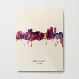 Anchorage Alaska Skyline Metal Print