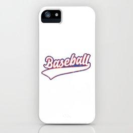 Baseball Pitcher Softball Players Baseball Batter Hitters Gift iPhone Case