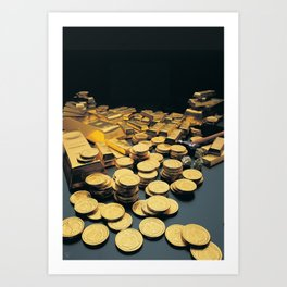 Gold Coins Art Print