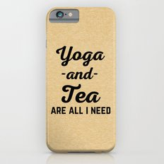 Yoga And Tea Funny Quote iPhone 6s Slim Case