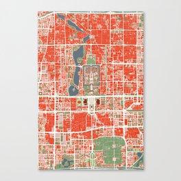 Beijing city map classic Canvas Print
