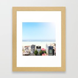 when the sky matches the ocean - Downtown Santa Monica, CA Framed Art Print