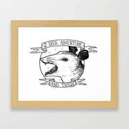 ADVENTURE AND TRASH Framed Art Print