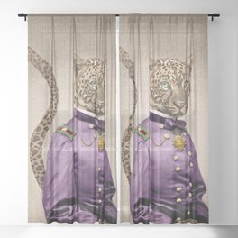 Grand Viceroy Leopold Leopard Sheer Curtain