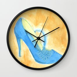 Blue Feathered Heel Wall Clock