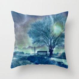 Amazing Winter Impression Throw Pillow