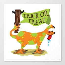 Hand Dog - Trick or Treat Canvas Print
