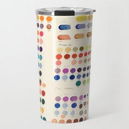 Artist Color Swatches - watercolor, prisma, paints Travel Mug