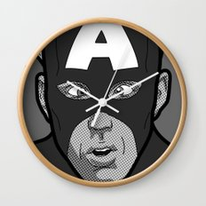 The secret life of heroes - Photobooth2-3 Wall Clock