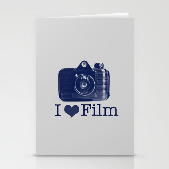 I ♥ Film (Grey/Navy) Stationery Cards