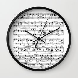 Mendelssohn Classical Sheet Music Wall Clock