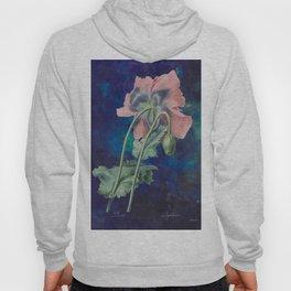 French Poppy - Vintage Botanical Illustration Collage Hoody