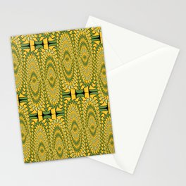 Geometric sunflowers Stationery Cards