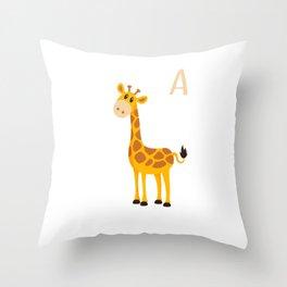I'm A Giraffe Cute Baby Giraffe Animal Throw Pillow