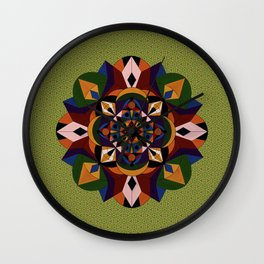 Faces Within Mandala Wall Clock