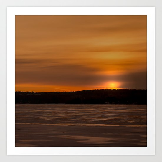 Sunset in December Art Print