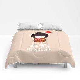 Geisha Girl Happiness Kawaii Comforters