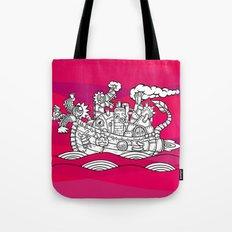 dragon ship Tote Bag