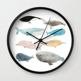 Group of whales Wall Clock