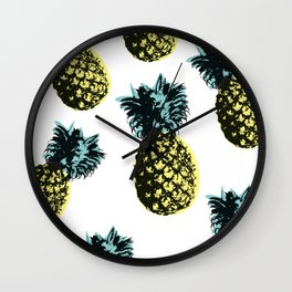 Pineapple Express White Wall Clock