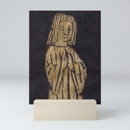 Child in Prayer Monumental Brass Rubbing from 1501 Gloucestershire Mini Art Print