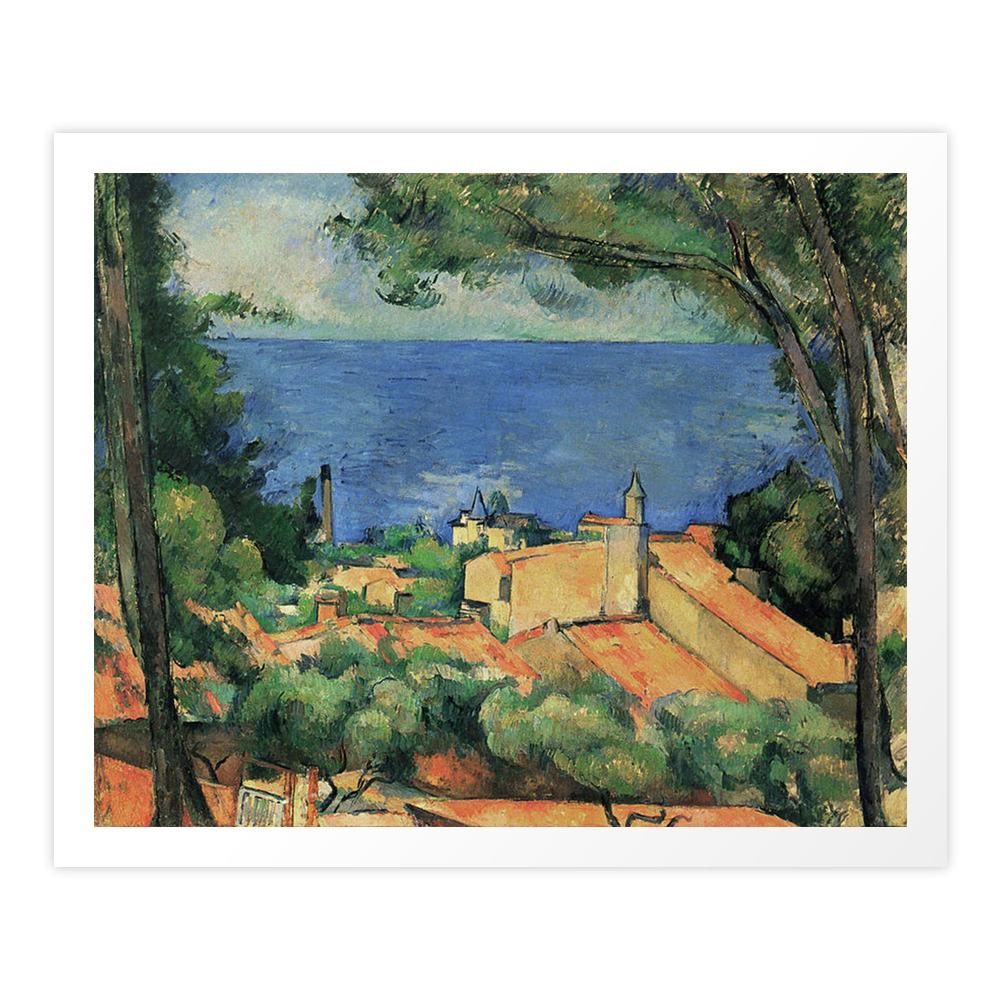 L?Estaque ? Paul Cezanne Art Print by famouspaintings