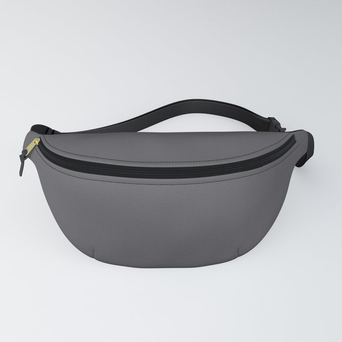 Dark Smoke Gray Solid Color Pairs With Sherwin Williams 2020 Trending Color Perle Noir SW9154 Fanny Pack