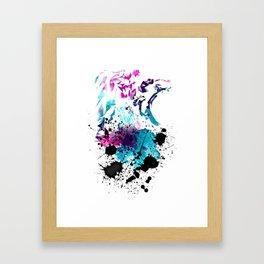 Lions Splash by GEN Z Framed Art Print